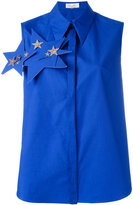 DELPOZO stars embellished sleeveless shirt - women - Cotton - 36