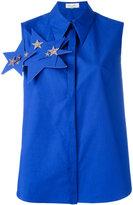 DELPOZO stars embellished sleeveless shirt