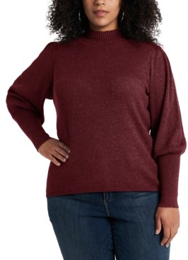 1 STATE Trendy Plus Size Balloon-Sleeve Sweater