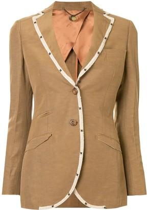 Maurizio Miri Contrast-Trim Single-Breasted Jacket