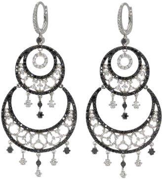 Black Diamond 18K White Gold Diamond & Chandelier Earrings