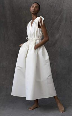 Maison Rabih Kayrouz Faille Pocket Midi Dress