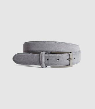 Reiss Joopy - Suede Belt in Grey