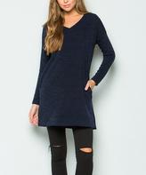 Sweet Pea Navy Sweater Tunic