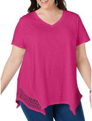 Style&Co. Style & Co. Plus Crochet Hem Top