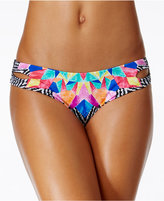 Bar III Feather Daze Reversible Cheeky Bikini Bottoms, Only at Macy's