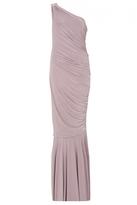 Quiz Mauve One Shoulder Ruched Maxi Dress