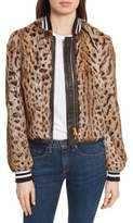 Veronica Beard Etta Genuine Rabbit Fur Jacket