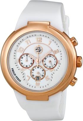 Philip Stein Teslar Philip Stein32-ARGW-RWUnisex WatchAnalogue QuartzWhite DialWhite Silicone Bracelet