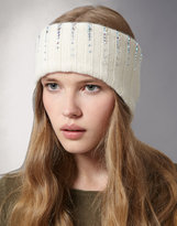 William Sharp Cashmere And Swarovski Ribbed Headband