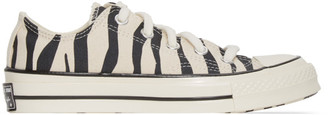 Converse Off-White Zebra Chuck 70 Low Sneakers