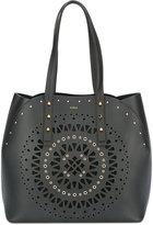 Furla geometric pattern studded tote - women - Leather - One Size