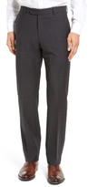 John W. Nordstrom Flat Front Check Wool Trousers