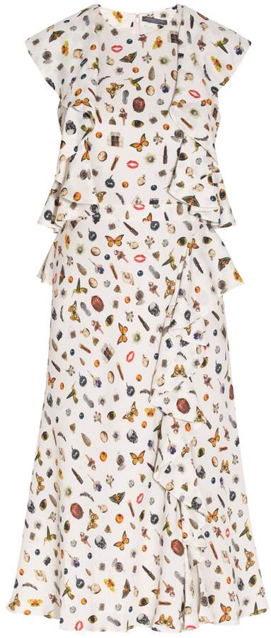 Alexander McQueen Obsession Printed Ruffle Dress