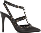 Valentino Black Rockstud Rolling Heels