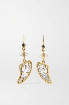 Melissa Joy Manning + Net Sustain 14-karat Gold, Diamond And Sapphire Earrings - one size