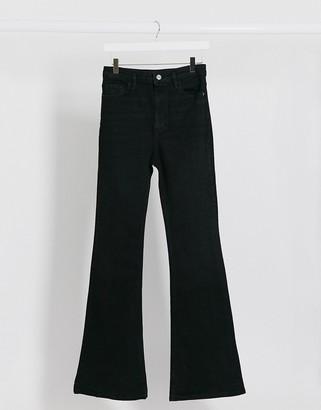 Stradivarius flare jeans in black