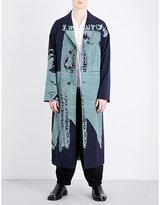 Yohji Yamamoto Hurrying-print Wool Coat