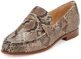 Alexandre Birman Python Loafer Flat, Grio