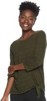 Sonoma Goods For Life Women's SONOMA Goods for Life Textured Knot-Hem Top
