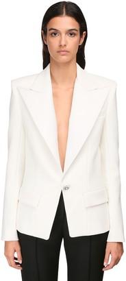 Alexandre Vauthier Compact Crepe Blazer Jacket