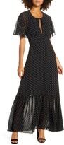 Ever New Spotted Chiffon Maxi Dress