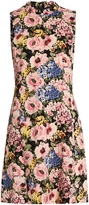Rebecca Taylor Floral-print sleeveless crepe dress