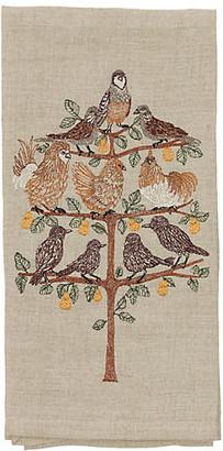 Coral & Tusk Partridge Tea Towel - Natural
