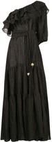 Lisa Marie Fernandez metallic gauze maxi dress