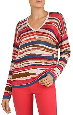 Gerard Darel Erika Oversized Striped Linen Sweater