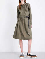 Brunello Cucinelli Chain-embellished cotton-poplin shirt dress