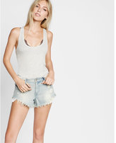 Express one eleven long ribbed scoop neck tank