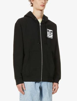 Obey Icon logo-print cotton-blend hoody