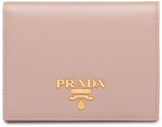 Prada Saffiano Foldover Wallet