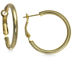 "Giani Bernini Small Polished Hoop Earrings in 18k Gold-Plated Sterling Silver, 1"", Created For Macy's"