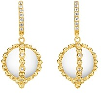 Temple St. Clair 18K Yellow Gold Celestial Rock Crystal & Diamond Sassini Amulet Earrings