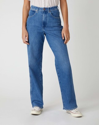 Wrangler Women's MOM Relaxed Boyfriend Jeans
