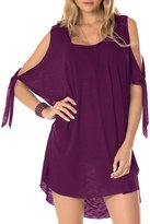 Becca by Rebecca Virtue Breezy Basic Convertible Cold Shoulder Tunic Cover-Up