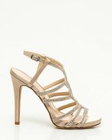 Le Château Satin & Jewel Strappy Platform Sandal