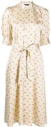 Polo Ralph Lauren Floral Print Satin Tea Dress