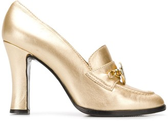 Versace Pre Owned metallic loafer pumps