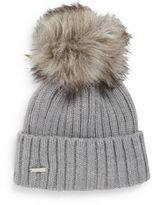 Calvin Klein Faux Fur Trimmed Beanie