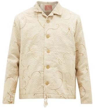 By Walid Jono Embroidered-chinese Silk Jacket - Cream Multi