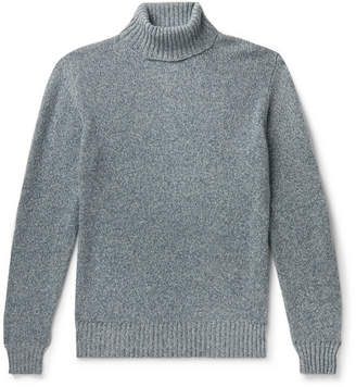 Loro Piana Slim-Fit Melange Baby Cashmere Rollneck Sweater