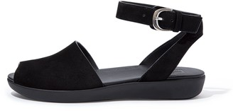 FitFlop Cova Suede Peep-Toe Sandals