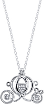 Disney Sterling Silver Cinderella Carriage Pendant Necklace with Diamond Accents