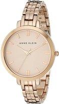 Anne Klein Women's AK-1446RGRG Rose- Stainless-Steel Analog Quartz Watch