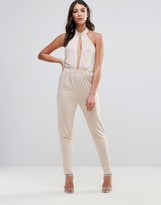 Oh My Love Choker Detail Jumpsuit