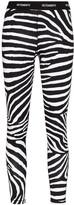 Vetements zebra-print logo waistband leggings