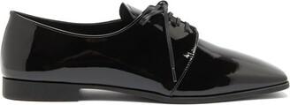 Prada Square-toe Patent-leather Shoes - Black